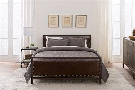 vintage metal bed dhp furniture vintage metal and upholstered bed