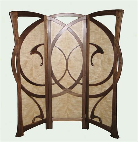 William Doub Custom Furniture   Autumn Wind Art Nouveau Screen