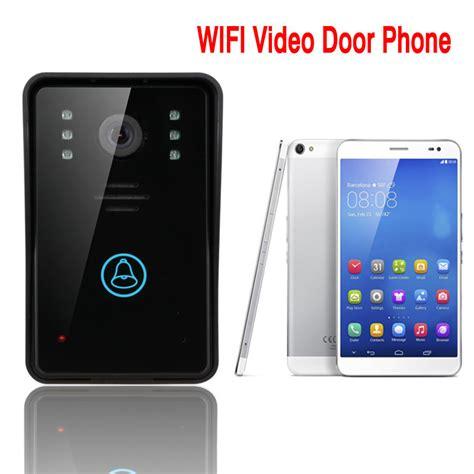 wifi doorbell door bell wireless ip intercom interfone smart phone unlock alarm by android