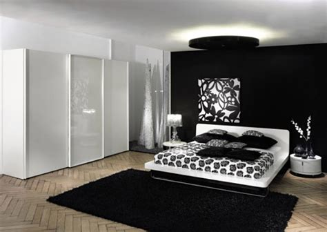 black white  red bedroom ideas  small interior ideas