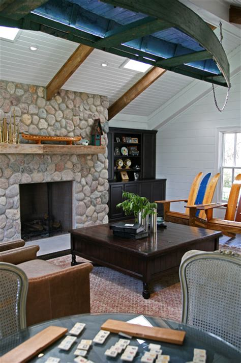 boat house living room traditional living room