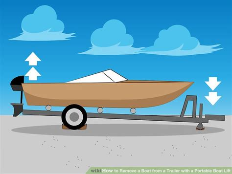 how to get a boat how to remove a boat from a trailer with a portable boat lift