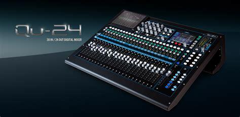 Mixer Qu 24 allen heath digital mixers