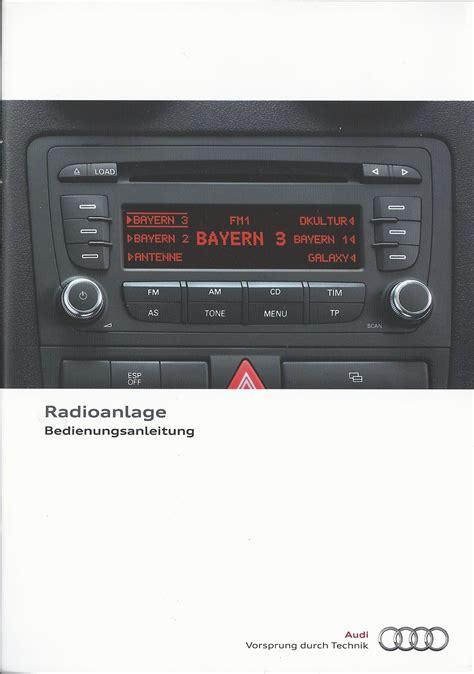 Bedienungsanleitung Audi by Audi Radioanlage Betriebsanleitung 2010