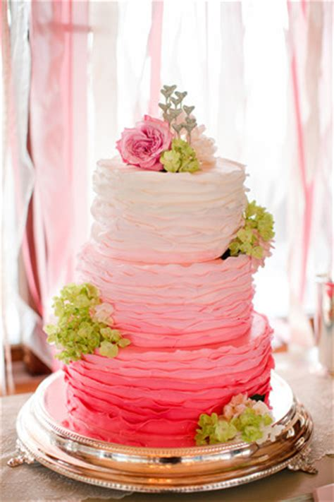 wedding cake of the day pink ombr flower wedding cake 6 new wedding cakes trends for 2013 and 2014 weddings
