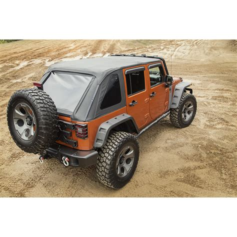 jeep soft top 4 door rugged ridge 13750 38 bowless soft top black 07