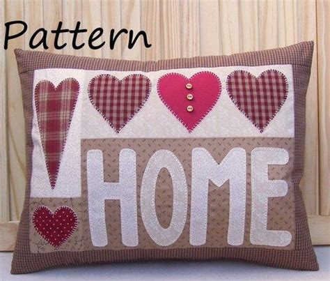 applique country pattern prim linz country applique hearts home cushion