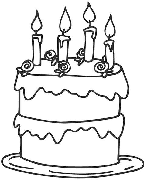 easy coloring pages for 4 year olds раскраска торт детские раскраски распечатать скачать
