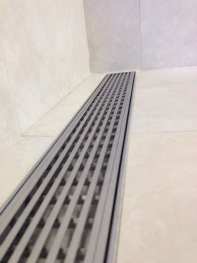 bathroom channel drain channel drains an option for healthcare facilities and ada