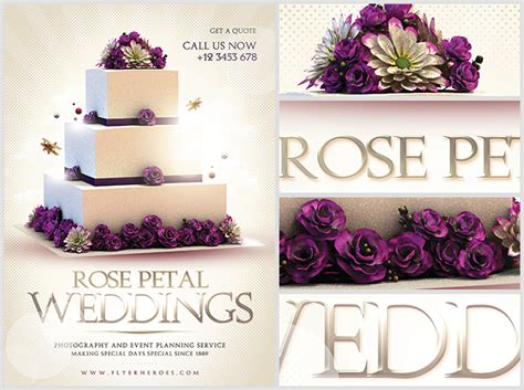 Wedding Planner Flyer by Wedding Flyer Template Flyerheroes
