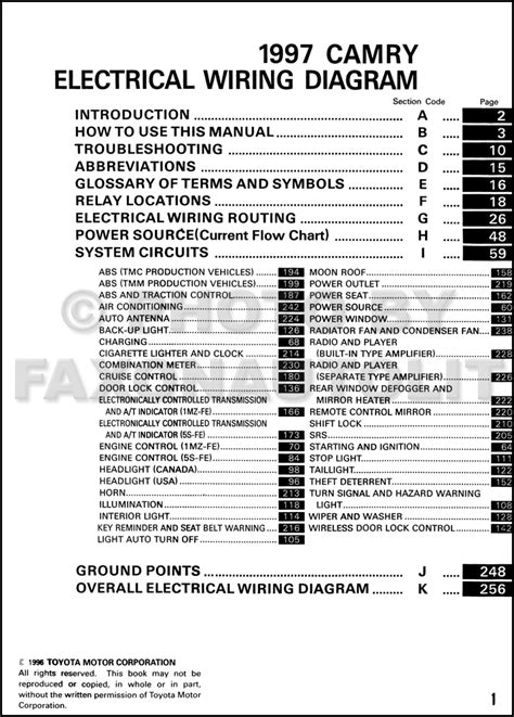 camry wiring diagram 2000 toyota camry wiring diagram