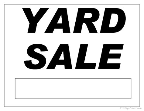 Free Printable Yard Sale Sign Yard Sale Signs Templates