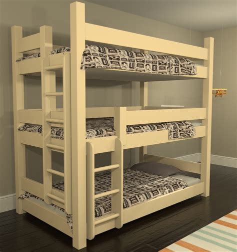 Three Bed Bunk Beds Custom Bunk Beds Bunk Beds