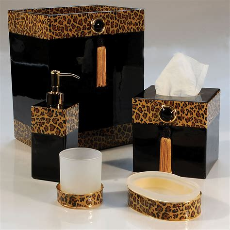Leopard Print Bathroom Accessories Leopard Print Animal Print Bathroom Accessories
