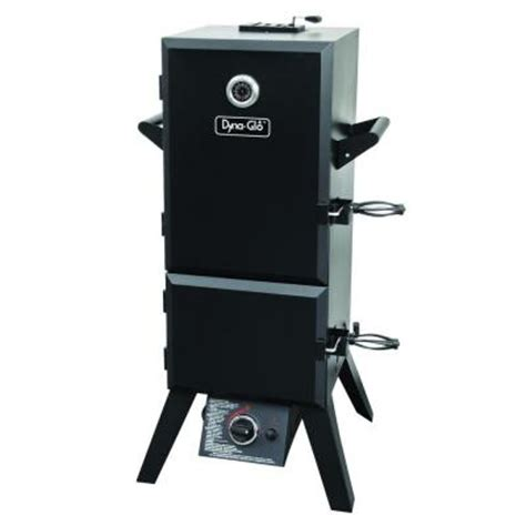 dyna glo 46 in vertical door propane gas smoker
