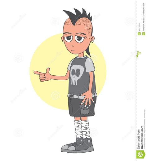 design photo cartoon punk man cartoon character stock images image 30975184