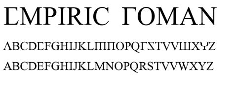 dafont times new roman empiric roman font foreign look roman greek category
