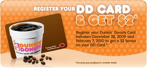 Dunkin Donuts Gift Card Balance - register your dd s card and get a 2 00 bonus addictedtosaving com