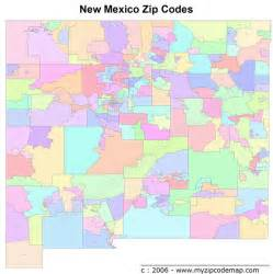 Abq Zip Code Map by New Mexico Zip Codes Map New Mexico Mappery