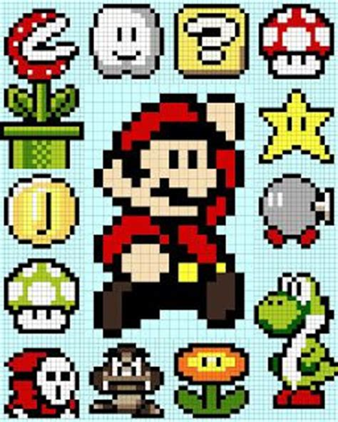 8 bit pixel mario bros for powerpoint 178 best images about geeky cross stitching on pinterest