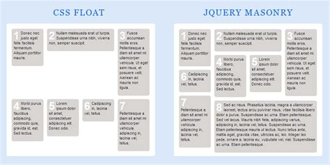 html layout using float tutorial using jquery masonry with wordpress wplover