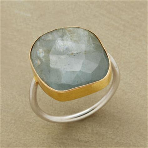 aquamarine ring rings jewelry from sundance catalog