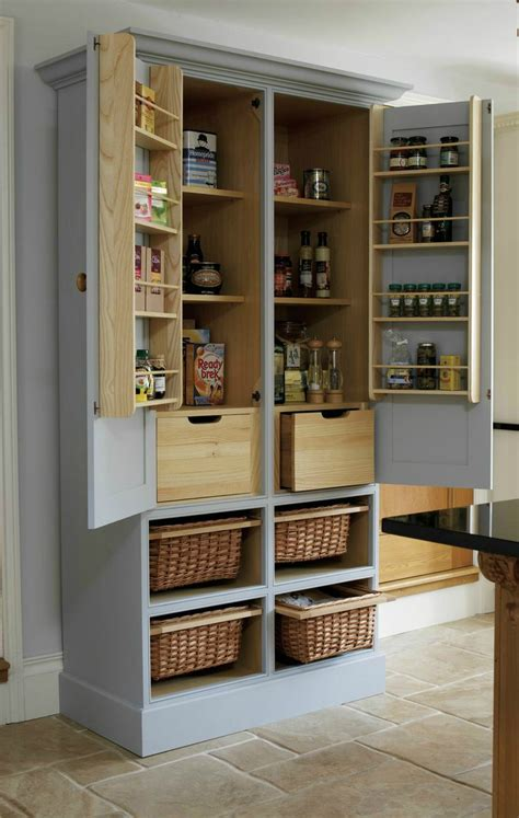 Kitchen Pantry Cabinets Freestanding by Best 25 Free Standing Pantry Ideas On