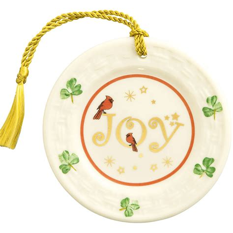 belleek annual joy plate christmas ornament 2016 belleek
