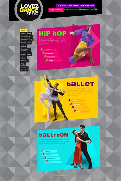 templates for dance website dance studio web template free website templates