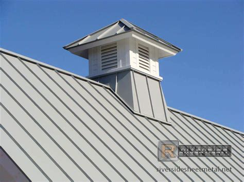 Roof Cupola dove gray metal roof with cupola detail metal roofing
