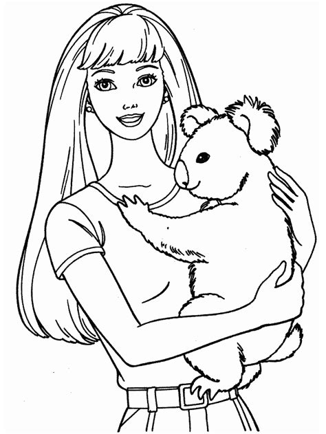 barbie coloring pages to print out printable coloring