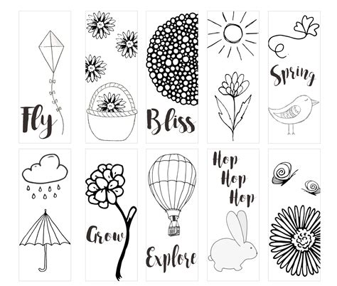 printable animal bookmarks to color spring printable coloring page bookmarks kleinworth co