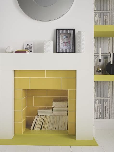 yellow fireplace best 25 tiled fireplace ideas on pinterest fireplace