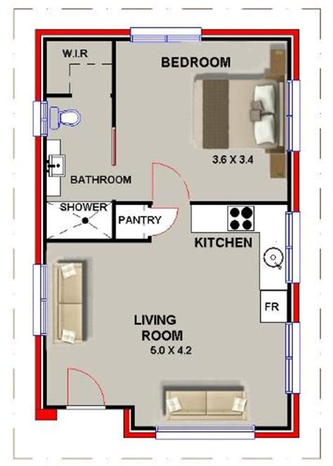 1 bedroom floor plan granny flat new 1 bedroom granny flat guest quarters one bedroom