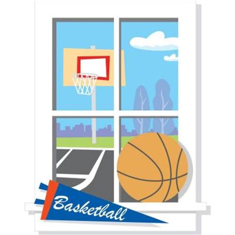 Window Decals Home Depot by Roommates 20 In X 20 In Backyard Basketball Peel Stick