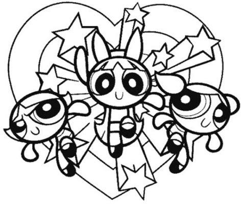Powerpuff Girls Coloring Pages And Coloring On Pinterest Powder Puff Coloring Pages Printable