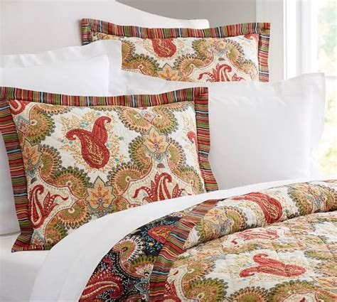 Pottery Barn Quilt by Linden Paisley Reversible Quilt Sham Pottery Barn