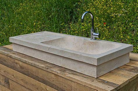 lavabo per cucina lavabo da cucina rettangolare in marmo travertino massello