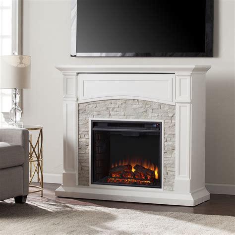 "45.75"" Seneca Electric Media Fireplace   White w/ White"