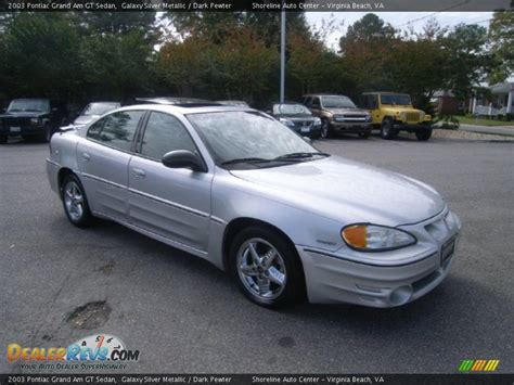 2003 pontiac grand am gt 2003 pontiac grand am gt sedan galaxy silver metallic