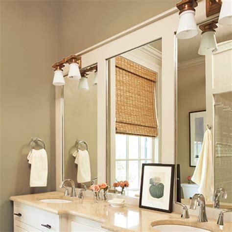 diy ideas    frame  basic bathroom mirror