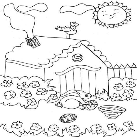 dibujos para colorear primavera dibujo colorear the bunny s home dibujo de primavera para