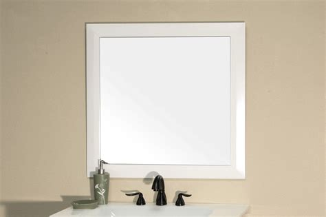 white wood framed bathroom mirrors bellaterra 203054 solid wood frame mirror white 31