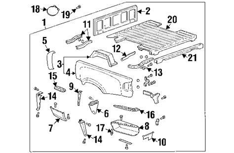 parts 174 gmc sonoma frame components oem parts parts 174 chevrolet s10 oem parts diagram