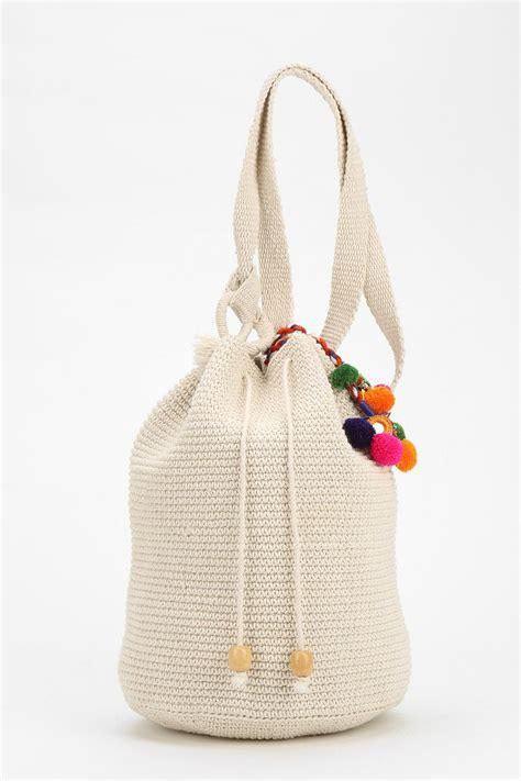 crochet pattern for bucket bag stela 9 crochet beach bucket bag in natural lyst
