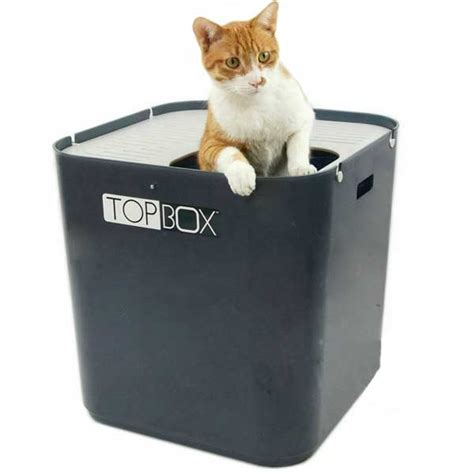 Cat Litter Box Otg Medium smartcat ultimate top box cat litter tray grey on sale