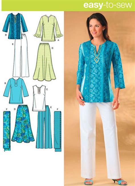pattern sewing tunic plus size sewing pattern skirt pants tunic top scarf