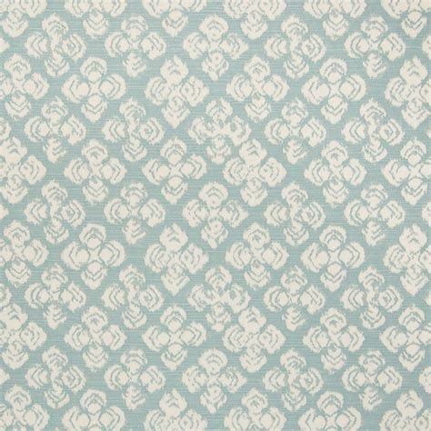 Light Blue Upholstery Fabric by Light Blue Blue Geometric Floral Cotton Woven