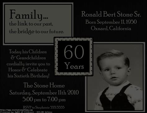 60th Birthday Card Wording 60th Birthday Party Invitations Ideas