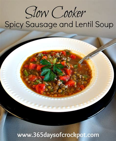lentil and sausage crock pot recipe for cooker crock pot spicy sausage and